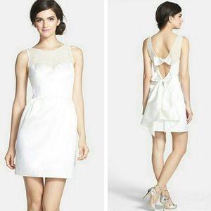 NWT Erin Fetherston Bow Illusion Ivory Dress 10